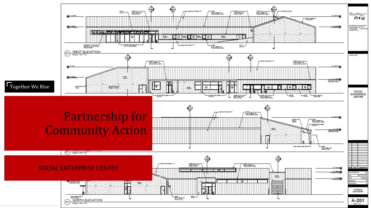 Social Enterprise Center Exterior Diagram