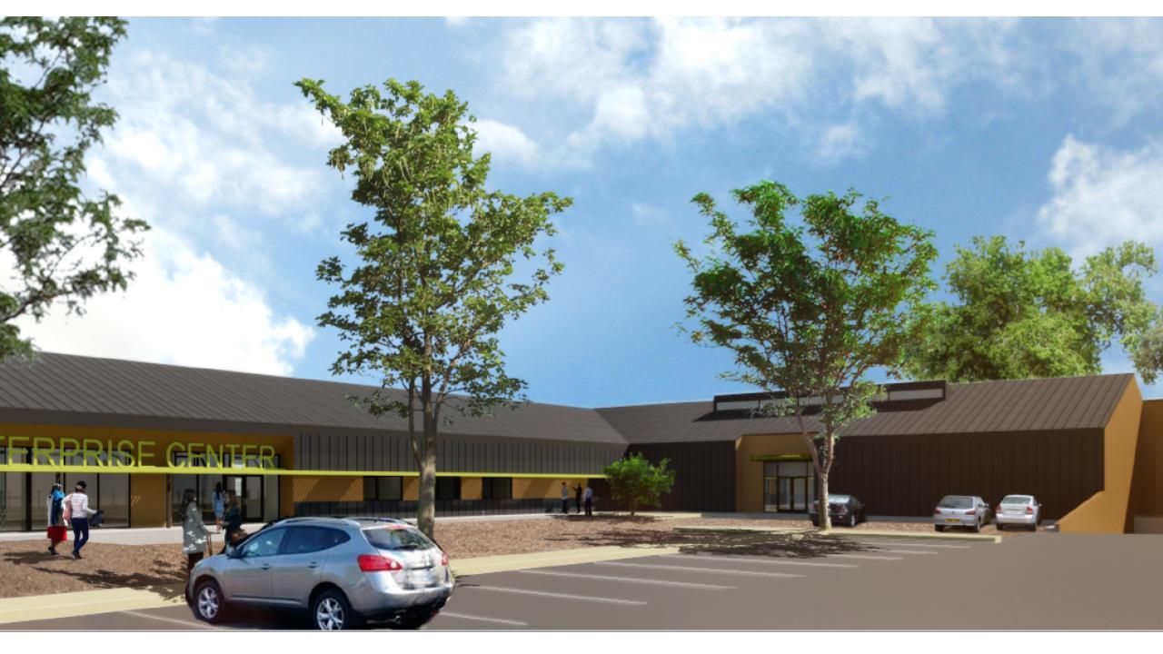 Social Enterprise Center Exterior Rendering