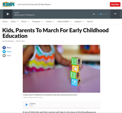 """Featured image for """"1000 Kid March – interview on KUNM"""""""